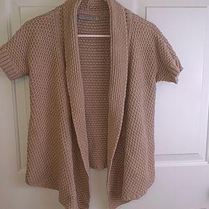 Zara short sleeve chunky knit cardigan Medium